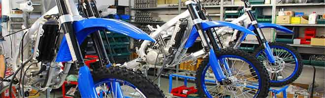 TM Racing designs and constructs competition motorcycles